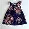 Navy Floral Flutter Dress - Baby, Toddler, Girl