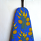 Ironing Board Cover - retro orange yellow bluebells on a royal blue background