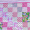 "Free post. Pink ""rabbit"" cot quilt or floor rug.  Add Pricilla Pink-Toes giraffe"