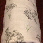 Cosy Flannelette Baby Blanket / Cot Cover / Pram Cover / Play Mat - Ducklings!
