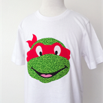 Tshirt - Appliqued Teenage Mutant Ninja Turtle - Super hero - boys - girls