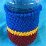 Bottle Cosy - Maroon, Gold and Blue