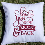 Love you to the Moon and Back pillow cover, cushion case, decorative nursery