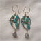 9k Gold Nightingale Verdigris & Labradorite  Earrings