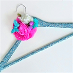 Sparkle glitter floral coat hanger. Wedding gown hanger. Fairy Hanger.