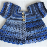 Crocheted Bella Rebekah Cardigan. Size 2