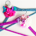 Sparkle glitter floral coat hanger. Wedding gown hanger. Fairy Hanger.