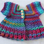 Crocheted Bella Rebekah Cardigan. Size 3