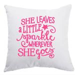 She leaves a little Sparkle, cushion case, decorative Glitter Design