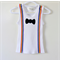Boys Singlet with Stripy Suspenders and Bow Tie