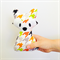 Baby Fox Rattle Houndstooth Print