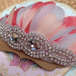Deluxe Diamanté Feather Crown. Size: Made to order.