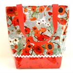 PVC Tote Bag - 32 x 30cm with pockets.  Designer Fabric