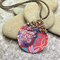HEART IN HIDING, SUBLIMATION GRAPHIC PRINTED NECKLACE