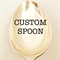 Custom hand stamped vintage silver spoon. Your wording of choice.