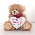 Flower Girl Gift; Flower Girl; personalised Teddy;