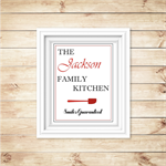 The Family Kitchen Personalised Kitchen Wall Art Decor - PRINTABLE
