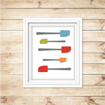 Kitchen Wall Art - PRINTABLE - Kitchen Wall Decor - Spatula - Printable