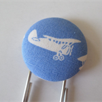 Aeroplane theme covered Button Paperclip Bookmark