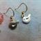 Small Gold Bird Earrings