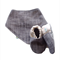 Charcoal Coloured Baby Shoes & Bandanna Gift Set