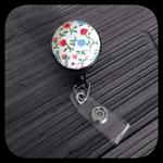 Summer Garden: ID Badge Reel