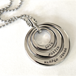 Personalised Necklace, Mothers Day, Hand Stamped Jewellery, Name Necklace