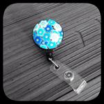 Kon-iro Sakura (Deep Blue Blossom): ID Badge Reel