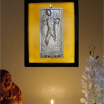 3D Star Wars Han Solo in carbonite Led light lamp wax sculpture painting candle