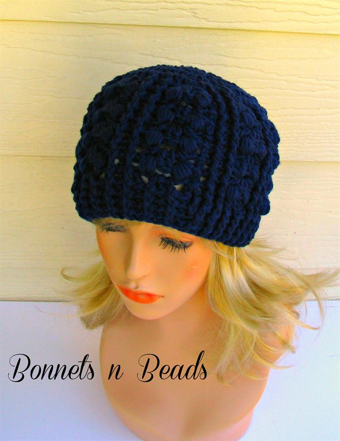 1bff954021 Navy blue classy hat beanie crochet womens hat warm winter wool fashion hat