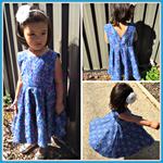 Kiara Party Dress with Headband size 3