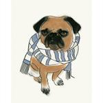 Pug Dog Wall Art - A4 print