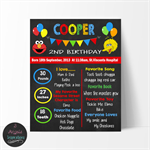 Sesame Street Chalk Board Sign,Personalised, Print your own sign 16x20