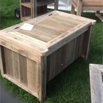 Rustic Recycled Hardwood STORAGE CHEST - Suit Shoes, Firewood, spare seat at bbq