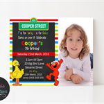 Sesame Street Birthday Invitation, Print your own personalised invitation