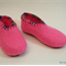 Washable woollen felt slippers with leather soles, EU31 - 34