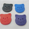 Cute pussy cat buttons. Red, blue, purple and black polymer clay buttons