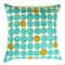 Dots Linen Cushion Cover in Turquoise and Green