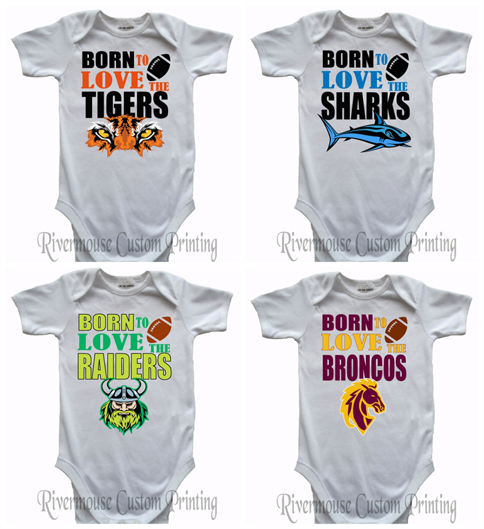 Nrl Baby Onesies Custom Print Rugby League Infant Romper Choose Your Footy Team Rivermouse House Madeit Au
