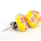 Yellow iced donut stud earrings - with sprinkles of course