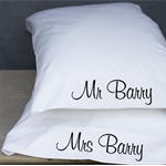 Wedding GIft Couples Pillow Cases Mr and Mrs