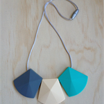 Silicone Necklace -Willow in Turquoise-