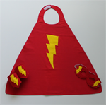 Boys Red & Yellow Bolt Super Hero Set