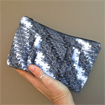Emmy Clutch: Black & White intricate design with Gold Indonesian Batik detail