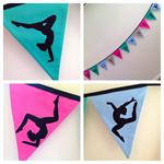 Gorgeous GYMNAST Bunting, banner, decoration. Gymnastics fans!