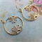 Gold Flower Pendant Earrings