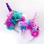 Unicorn magical flower crown headband