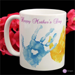 HAND PRINT MOTHER'S DAY COFFEE MUG, CUSTOMISED & PERSONALISED