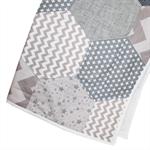 Grey Hexie Patchwork Quilt. Bassinet Size. Unisex