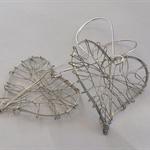 Gorgeous Silver Love Heart Earrings